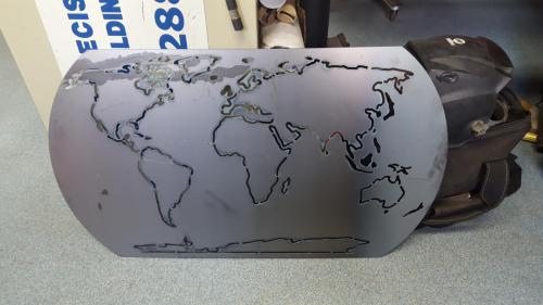 Fabricated Metal World Map