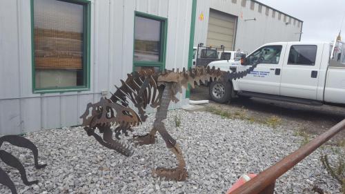 Fabricated Metal Dinosaur