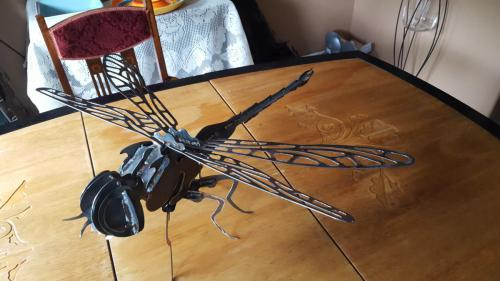 Fabricated Metal Dragonfly